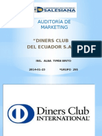 Exposición Auditoría de Marketing - Diners Club