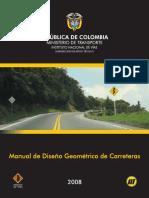 manual diseño geometrico de vias