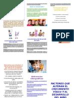 El Crecimiento y Desarrollo Del Niño
