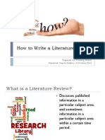 How to Write a Literature Review Rindang Widuri