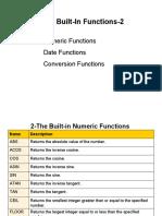 Week-4a Built in Functions