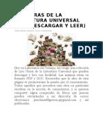 500 Obras de La Literatura Universal Para Descargar y Leer