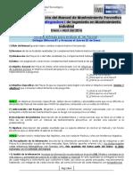 Contenido Del Manual de Mantenimiento Integradora I Enero Abril 2015