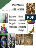 Disciplinas Relacionadas Con Las Ciencias Sociales 1 Año