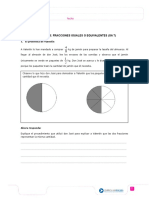 Guia 3 Fracciones Refuerzo Fraciones Equivalentes