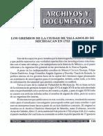 Gremios de Valladolid-1722