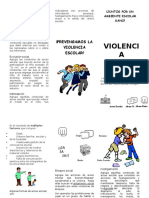 Triptico Violencia Escolar