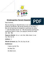 parent newsletter 11