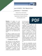 Informe 2 Calorímetro ILM212 CORREA ESTRADA Par200