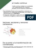 Presentacion Mecanica Del Medio Continuo Primera Parte
