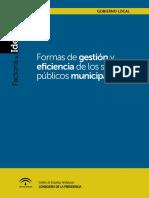 Formas de Gestión y Eficiencia de Los Servicios Publicos Municipal