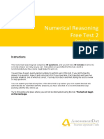 Numerical Reasoning Test2 Questions