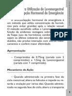 Protocolo - Levonorgestrel