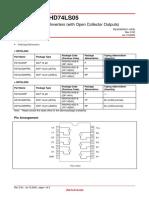 HD74L04P datasheet
