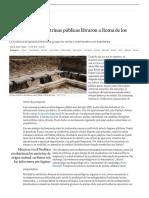 MIGUEL ÁNGEL CRIADO, Ni los baños ni las letrinas públicas libraron a Roma de los parásitos | Ciencia | EL PAÍS
