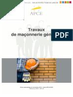 Btp 08 - Travaux de Maconnerie.64511