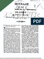 Mensaje Que Hace El Presidente de La República de Chile Al Congreso Nacional Exponiendo Las Razones Justificativas de La Presente Guerra Con El Perú. (1836)