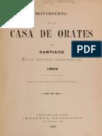 Movimiento de La Casa de Orates de Santiago. en El Segundo Semestre de 1896. (1897)