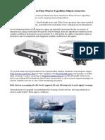 Bluetraker Installations on Polar Pioneer Expedition Ship in Antarctica