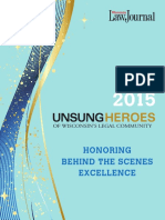 2015 Unsung Heroes of Wisconsin's Legal Community