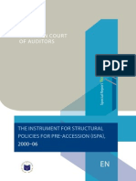 EUROPEAN COURT OF AUDITORS - THE INSTRUMENT FOR STRUCTURAL POLICIES FOR PRE-ACCESSION (ISPA), 2000-06