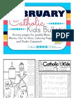 February 2016 Catholic Kids Bulletin