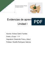 Evidencias de Aprendizaje (Desarrollo Fisico)