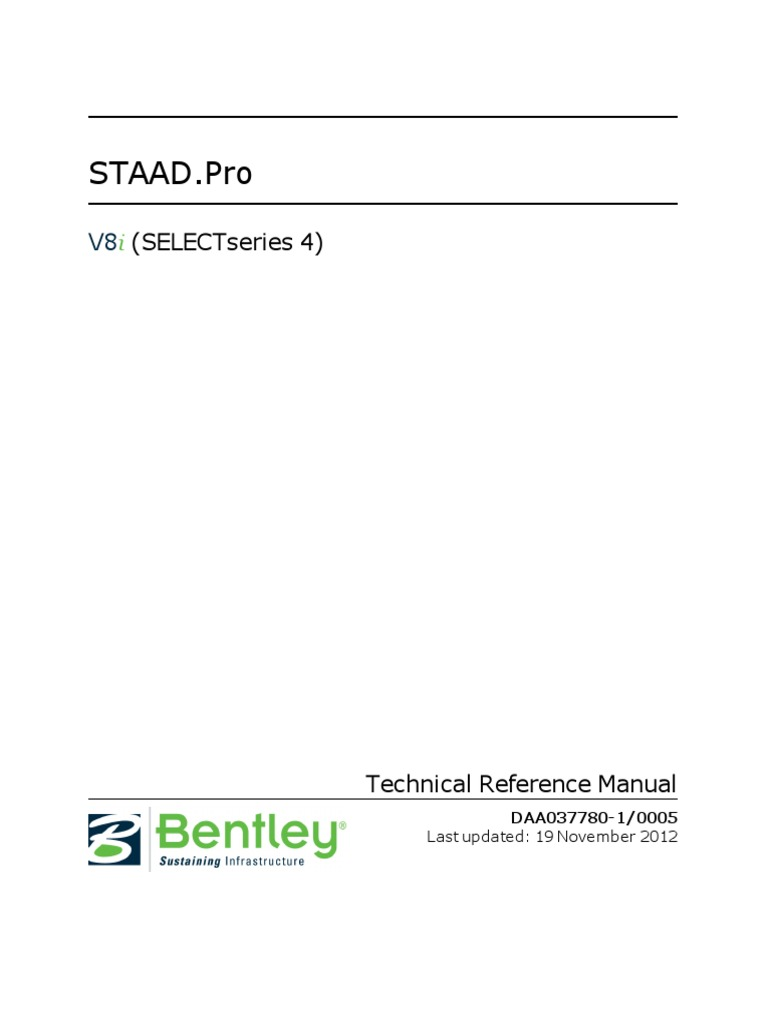 staad pro v8i manual 2016 cartesian coordinate system coordinate rh scribd com 2012 2013 Cod Technical Reference CMS Technical Reference Architecture
