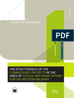 EUROPEAN COURT OF AUDITORS - THE EFFECTIVENESS OF THE COMMISSION'S PROJECTS IN THE AREA OF JUSTICE AND HOME AFFAIRS FOR THE WESTERN BALKANS