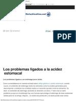 Los Problemas Ligados a La Acidez Estomacal - Dieta Alcalina
