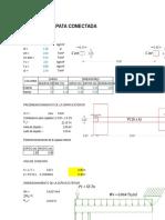 diseño zapata conectada L=4M