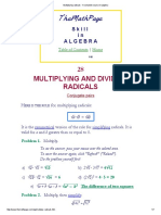 Multiplying Radicals - A Complete Course in Algebra