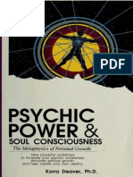 Psychic Power and Soul Consciousness the Methaphysics of Person