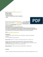 Websites' Contact Info
