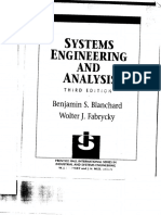 Systems Engineering and Analysis Thrid Edition Benjamin S. Blanchard and Wolter J. Fabrycky