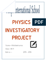 Investigatory Project In Physics For Class 12 Pdf
