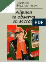 Alguien Te Observa en Secreto Ignacio Martinez de Pison