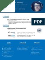Example resume in 2016