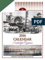 2016 Calendar - Nostalgic Cyprus (English)