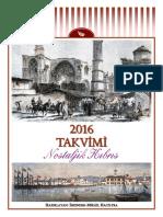 2016 Calendar - Nostalgic Cyprus (Turkish)
