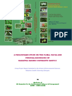 A PRELIMINARY STUDY ON THE FLORA, FAUNA AND PHYSICAL RESOURCES OF MAHATMA GANDHI UNIVERSITY CAMPUS