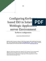 Configuring Kerberos Based SSO in Solaris and Weblogic