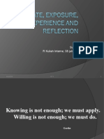 Clt4-Educate Exposure Experience and Reflection_prof Suharto