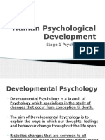 1. Human Psychological Development Intro