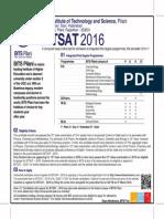 Bitsat2016 Advt
