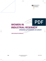 Women in industrial research - speeding up changes in Europe - international conference