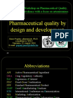 PharmDesign QualityDevelopment Specification