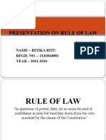 Presentation on Rule of Law