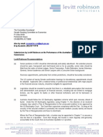 Senate Economics Committee Submissions on ASIC Levitt Robinson.211013
