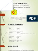 Fraktur terbuka 1/3 distal femur dextra